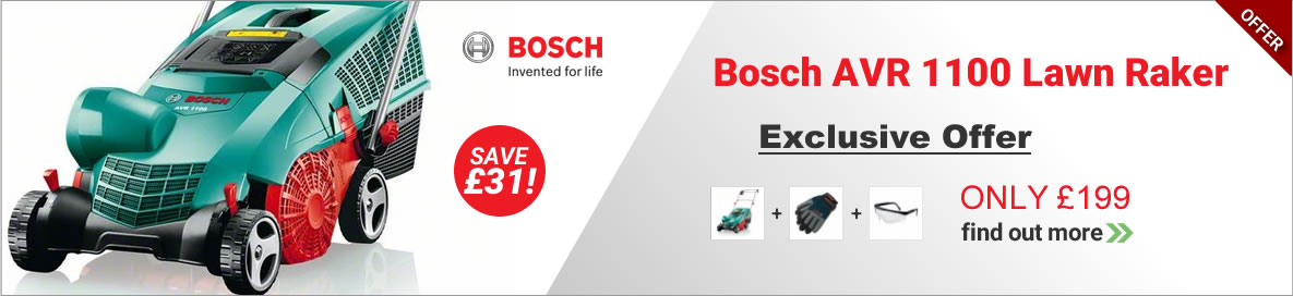 Bosch AVR 1100 Lawn Raker Offer