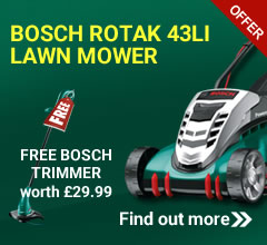 Bosch rotak 43li with free trimmer