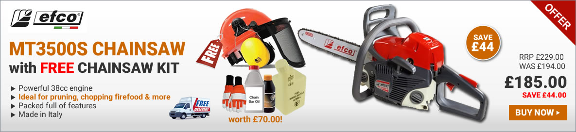 Efco MT3500s chainsaw with free starter kit