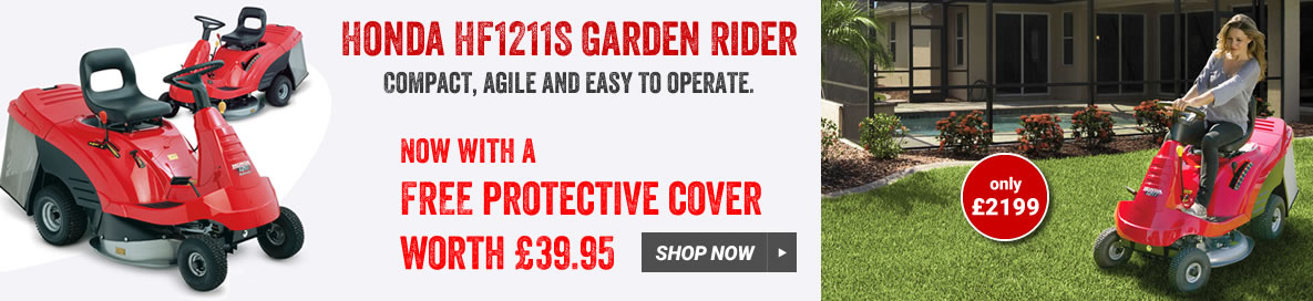 Honda HF1211HE rider with free cover