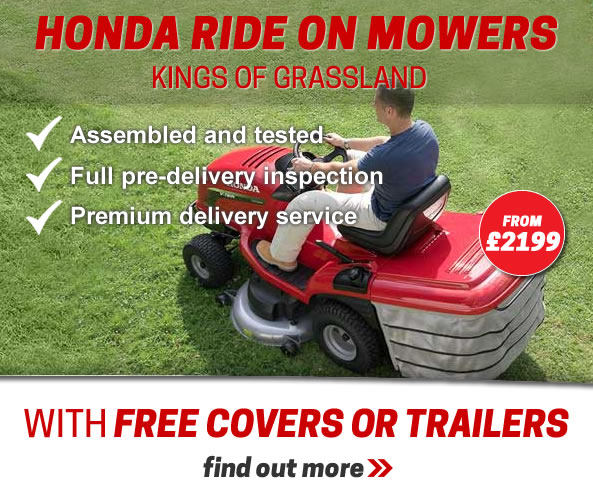 Honda ride on mowers with free covers or trailers