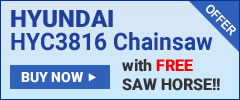 Hyundai HY3816 with free saw horse offer