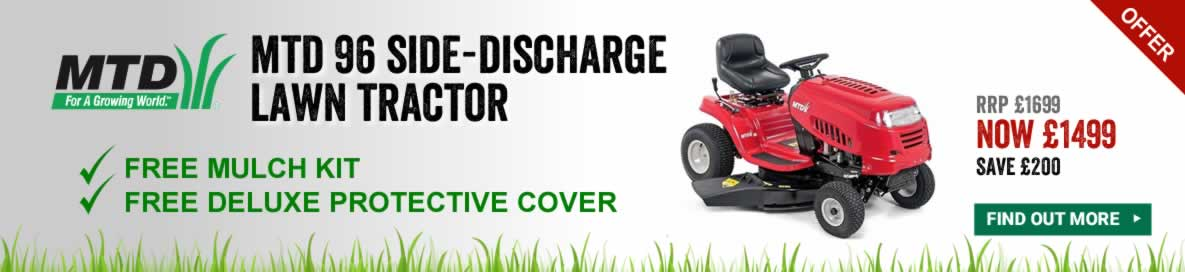 MTD 96 Side-Discharge Lawn Tractor Banner