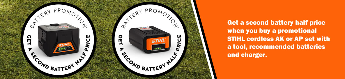 Stihl battery offer banner