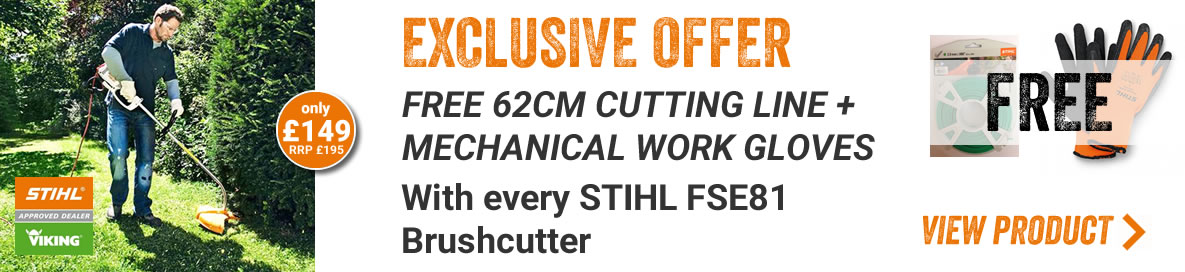 Stihl FSE 81 + 62m (2mm) Nylon Line + Work Gloves
