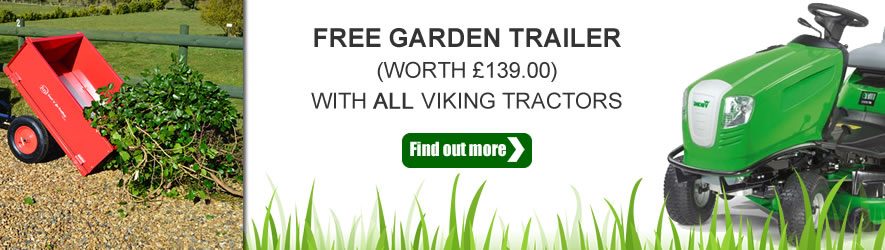Free Trailer with all Viking garden tractors