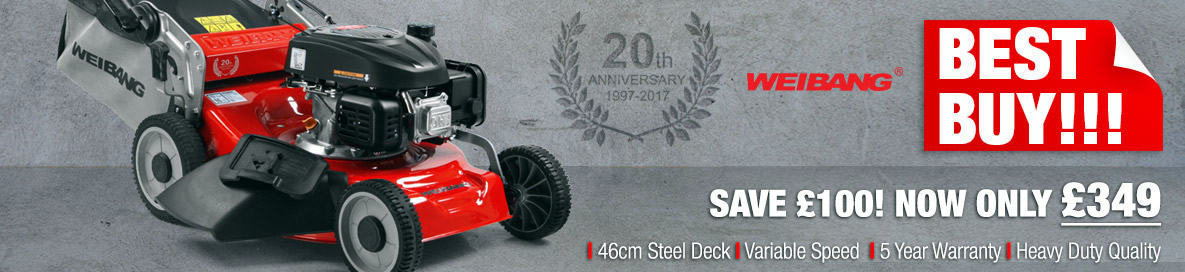 Weibang Virtue 46 SV Anniversary Model Lawn Mower Banner